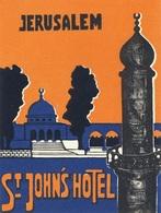@@@ MAGNET - St. Johns Hotel Jerusalem - Advertising