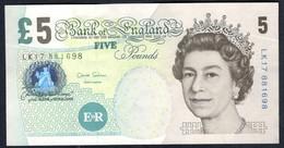 England - 5 Pounds 2002 - P391d - 1952-… : Elizabeth II