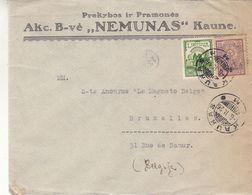 Lituanie - Lettre De 1926 ° - Oblit Kaunas - Exp Vers Bruxelles - - Litauen