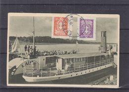 Lituanie - Carte Postale De 1928 - Oblit Panevezys - Exp Vers Dison - Vue Du Lac - Litauen