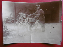 MOTO ANCIENNE FEMME PILOTE PHOTO 11 X 8 état - Foto