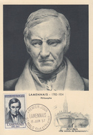Carte Maximum  1er  Jour   FRANCE    LAMENNAIS    SAINT  MALO   1957 - 1950-59