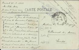 Marque De Franchise Militaire Sur CP Dinan 22  - Hopital  ( 28) Complémentaire De Dinard En 1917. - Guerra 1914-18