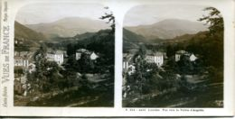 N°72797 GF-carte Stéréoscopique -Lourdes-Vue Vallée Argeles - Estereoscópicas