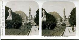 N°72800 GF-carte Stéréoscopique -Lourdes-Basilique Et Esplanade - Estereoscópicas