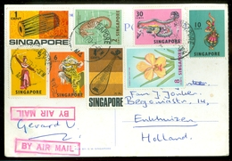 POSTKAART Uit 1970 Van SINGAPORE Naar ENKHUIZEN  (11.550) - Singapore (1959-...)