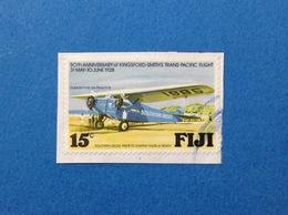 FIJI AEREO 15 C FRANCOBOLLO USATO STAMP USED - Fiji (1970-...)