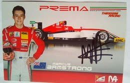 Prema Power Team  Marcus Armstrong Signed Card - Authographs