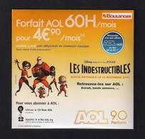 """CD-ROM Publicitaire AOL-Boulanger Pour Accès à Internet.  Film """"Les Indestructibles"""". - Other"""