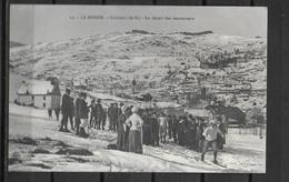 88 LA BRESSE CONCOURS DE SKI DEPART DES CONCURRENTS - France