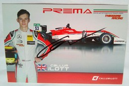 Prema Power Racing  Callum Ilott  Signed Card - Authographs