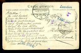 HANDGESCHREVEN BRIEFKAART Uit 1906 Van GEMMIPASS HÖHE Naar HILVERSUM  (11.550b) - 1882-1906 Wapenschilden, Staande Helvetia & UPU