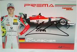 Prema Power Team Mick Schumacher Signed Card - Authographs