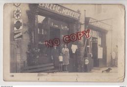 Au Plus Rapide Carte Photo Devanture Epicerie Mercerie - Shops