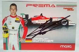 Prema Power Team Mahimilian Gunther Signed Card - Authographs