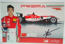 Prema Power Team Guanyu  Signed Card - Authographs