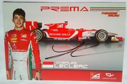 Prema Power Racing Charles Leclerc Signed Card - Handtekening