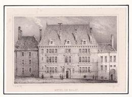 39  DOLE   Hôtel De Balay    Gravure Ancienne - Dole