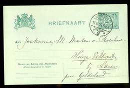 HANDGESCHREVEN POSTKAART Uit 1906 Van NIJMEGEN Naar HUIZE VELHORST  Bij LAREN  (11.550c) - Periode 1891-1948 (Wilhelmina)