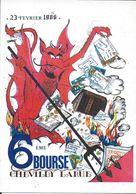 BOURSE SALON CARTE POSTALE CHEVILLY- LARUE 94 VAL DE MARNE  6 EME BOURSE 1986 DIABLE ENFER  ILL. GANDOIS - Collector Fairs & Bourses