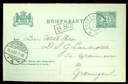 HANDGESCHREVEN BRIEFKAART Uit 1907 Van MIDWOLDA Stempel SCHEEMDA Naar GRONINGEN  (11.550d) - Periode 1891-1948 (Wilhelmina)