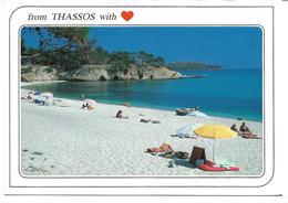 3055b: AK Strand Von Thassos, Gelaufen Nach Österreich - Griechenland