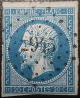FRANCE Y&T N°14A Napoléon 20c Bleu. Oblitéré Losange PC. N°2945 Souvigny - 1853-1860 Napoléon III