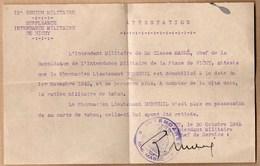 Vieux Papiers > Non Classés Suppleance Intendance Militaire De Vichy Suppression De La Carte De Tabac - Non Classificati
