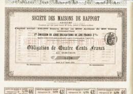 92-MAISONS DE RAPPORT. BOURG LA REINE. 1894. Obligation - Shareholdings