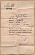 Vieux Papiers > Non Classés A.D.P.G DE L ALLIER Demande De Medaille Commemorative De La Guerre 39/45 - Old Paper