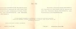Faire-part De Mariage Des Landes, 1929, Jane Maisonnave, De Lesperon Et Raoul Mourroux, De Saint-Paul-lès-Dax - Wedding