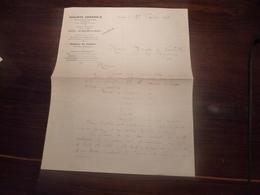 SOCIETE GENERALE AGENCE GUERET CREUSE MONSIEUR DE LAVILLATTE 16 FEVRIER  1924 LETTRE RELEVE - Shareholdings