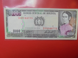 BOLIVIE 1000 PESOS 1982 PEU CIRCULER/NEUF - Bolivia