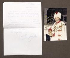 Musica Lirica - Autografo E Lettera Del Baritono Giuseppe Riva - 1993 - Autografi