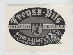 Freysz Pils Brasserie Bière D'Alsace Strasbourg 1974 - Publicités