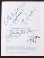 Musica Lirica - 4 Autografi Di Zardo, Benelli, Rinaldi, Janos Acs - 1981 - Autografi