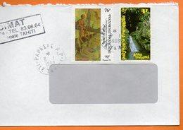 PAPEETE  PEINTRE MAUI SEAMAN 1998 Lettre Entière 110x220 N° OO 109 - Lettres & Documents