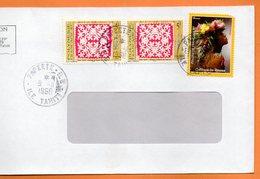 PAPEETE  COLLIERS DE FLEURS 1998 Lettre Entière 110x220 N° OO 110 - Lettres & Documents