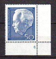 Bund   543  ** Postfrisch  Formnummer - Unused Stamps