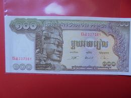 CAMBODGE 100 RIELS 1957-75 PEU CIRCULER/NEUF - Cambodia