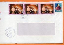 PAPEETE  INSTRUMENT DE MUSIQUE 1998 Lettre Entière 110x220 N° OO 115 - Lettres & Documents