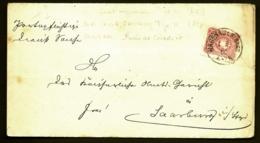 RARE LETTRE ALSACE-LORRAINE OCCUPÉE- HAGENAU CAD ROND + RECTANGULAIRE AU VERSO- 1886- 3 SCANS + INFO - Poststempel (Briefe)