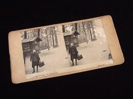 Photographie Ancienne Stéréoscopique Bruxelles (Belgique)  Un Coin Du Parc - Panoramische Zichten, Meerdere Zichten