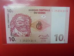 CONGO 10 CENTS 1997 PEU CIRCULER/NEUF - Congo