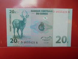 CONGO 20 CENTS 1997 PEU CIRCULER/NEUF - Congo