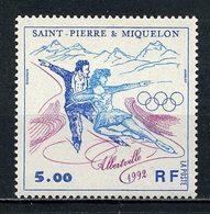SPM MIQUELON 1992 N° 559 ** Neuf MNH Superbe C 2.30 € Sports Jeux Olympique D'hiver à Albertville Patinage Games - Neufs