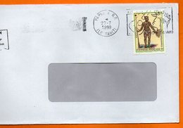 PAPEETE  TATOUAGES MARQUISIENS  1999 Lettre Entière 110x220 N° OO 122 - Lettres & Documents