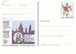 Germany 1989 Mainz 100 Jahre Deutsche Philatelistentage 60pfg Postal Stationary Postcard - BRD