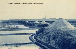 D 44 - BATZ - Marais Salants - Mulons De Sel - Carte Bleutée - Ed. F. Chapeau - Batz-sur-Mer (Bourg De B.)