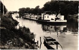 """ANDRESY BORDS DE SEINE ,SUPER PLAN PENICHE """"TOURBILLON"""" REF 59843 - Houseboats"""